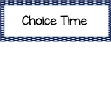 Choice Time Printable and Editable Cards