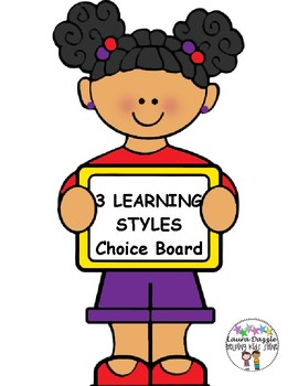 FREE 3 Learning Styles Choice Board