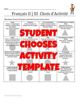 Come-On! - Choice of Activity Template