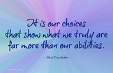Choices 11 x 17 JPG Poster Classroom Management PBIS Character Ed
