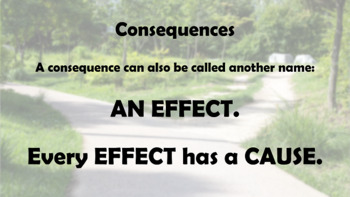 Choices Consequence Cause Effect Responsibility PBIS Character Ed w 4 video link