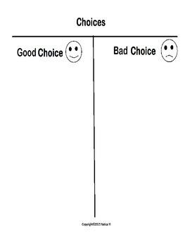Choices Graphic Organizer