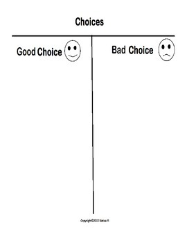 Choices Graphic Organizer
