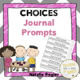 Journal Prompts - Cut and Paste Writing Activities For Making Choices