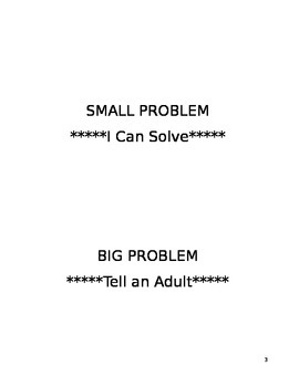 Choices Lesson-Understanding the Difference Between BIG and Small Problems