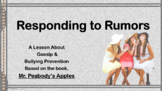Choices Rumors Bullying READY TO USE (NO PREP) LESSON link Mr. Peabody's Apples