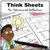 Choices Think Sheet | Behavior Reflection Program | Restorative Practices