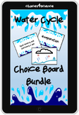 Choices4Science Water Cycle Choice Board Vocab PLUS Technology TEKS 4.8B