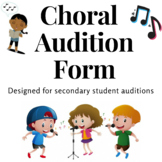 Choir or Vocal Audition Form