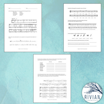 Choir Basics Assessment (Use as SLO Pre/Post Assessment!)