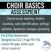 Choir Basics Assessment (Use as SLO Pre/Post Assessment!)
