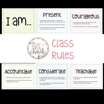 Choir Class Rules