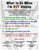 Choir Classroom Poster: What To Do When I'm Not Singing