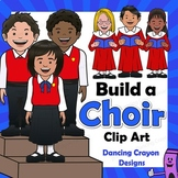 Choir Clipart - Choristers and Risers - Build-a-Choir | Kids Chorus Clip Art