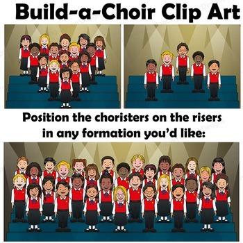 Choir Clipart - Choristers and Risers - Build-a-Choir | Kids Chorus Clip Art
