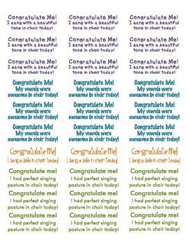 Choir Congratulation Labels