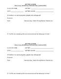 Choir/Ensemble Section Leader Roll Call, Materials, Prepar