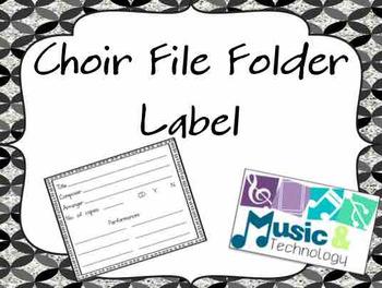 Choir File Folder Label