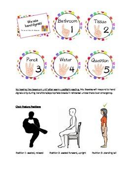 Choir Hand Signals & Posture Handout