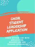 Choir Leadership Application