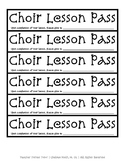 Choir Lesson Passes