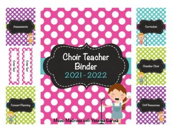 Choir - Music Teacher Binder Teacher Binder 2017-2018 (Editable) UPDATED YEARLY!