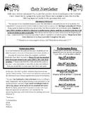 Choir Newsletter, Permission Slip, Choir Shirt Order Form