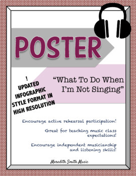 Choir Poster: What to Do When I'm Not Singing *UPDATED LAYOUT* *Bold Colors*