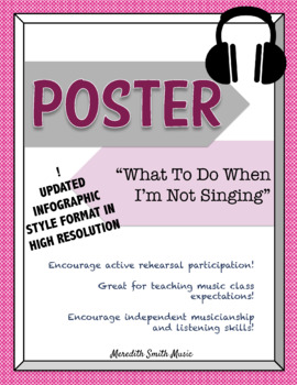 Choir Poster: What to Do When I'm Not Singing *UPDATED LAYOUT* *Bright Colors*
