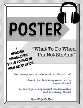 Choir Poster: What to Do When I'm Not Singing *UPDATED LAYOUT* *Grayscale*