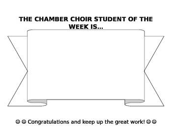 Choir Student of the Week Banner
