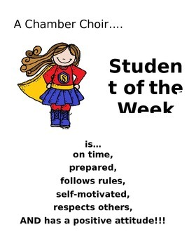 Choir Student of the Week Poster