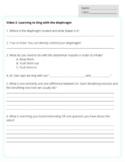 Choir Sub Plan- 2 video worksheets