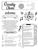 Choir Syllabus - Easy to edit in Google Slides!