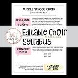 Choir Syllabus Template