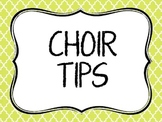 Choir Tips posters
