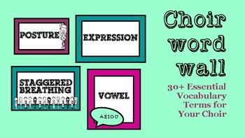 Choir Word Wall