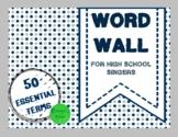Choir Word Wall- Confetti Theme!