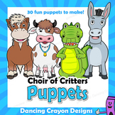 Choir of Animals Craft Activity | Paper Bag Puppet Animal Templates