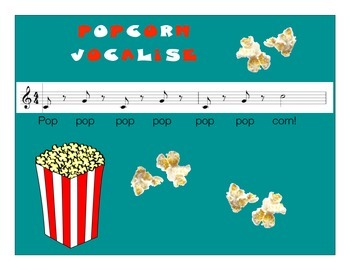 "Choir or Singing Energetic Warm-Up using Vocalise ""Popcorn"""