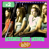 Choir songs that inspire! 2 empowering songs w/accompanime