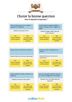 Choisir la bonne question 1 - Peux-tu répondre à la question ? -CP-CE1