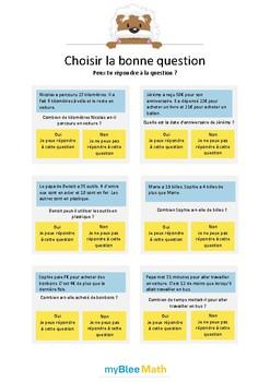 Choisir la bonne question 2 - Peux-tu répondre à la question ? -CP-CE1