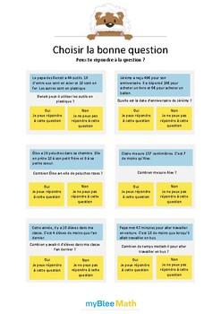 Choisir la bonne question 3 - Peux-tu répondre à la question ? -CE1