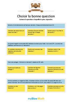 Choisir la bonne question 4 - A quelle question peux-tu ré