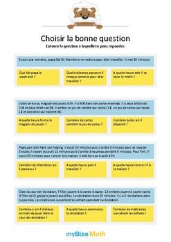Choisir la bonne question 5 - A quelle question peux-tu répondre ?