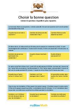 Choisir la bonne question 6 - A quelle question peux-tu répondre ?