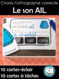 Choisis l'orthographe correcte - Le son AIL