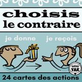 Choisis le contraire: French Action Verbs BOOM Cards for D