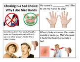 Social Stories about Aggression - Hitting, kicking, choking, or during play